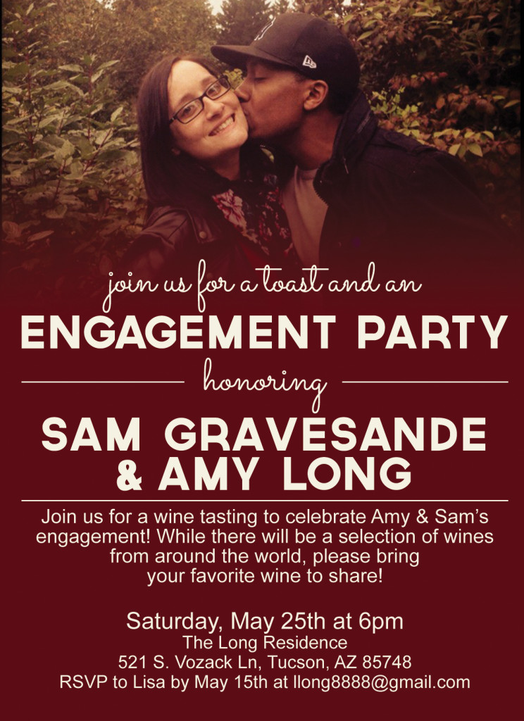 engagement party invite RGB